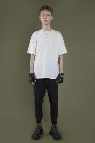 DROP1 / T-SHIRT-1 white yellow