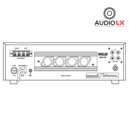 Ahuja 5050-DP | 50+50 WATTS WITH BUILT-IN DIGITAL PLAYER - Audiolx