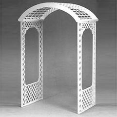 Deluxe White Lattice Archway