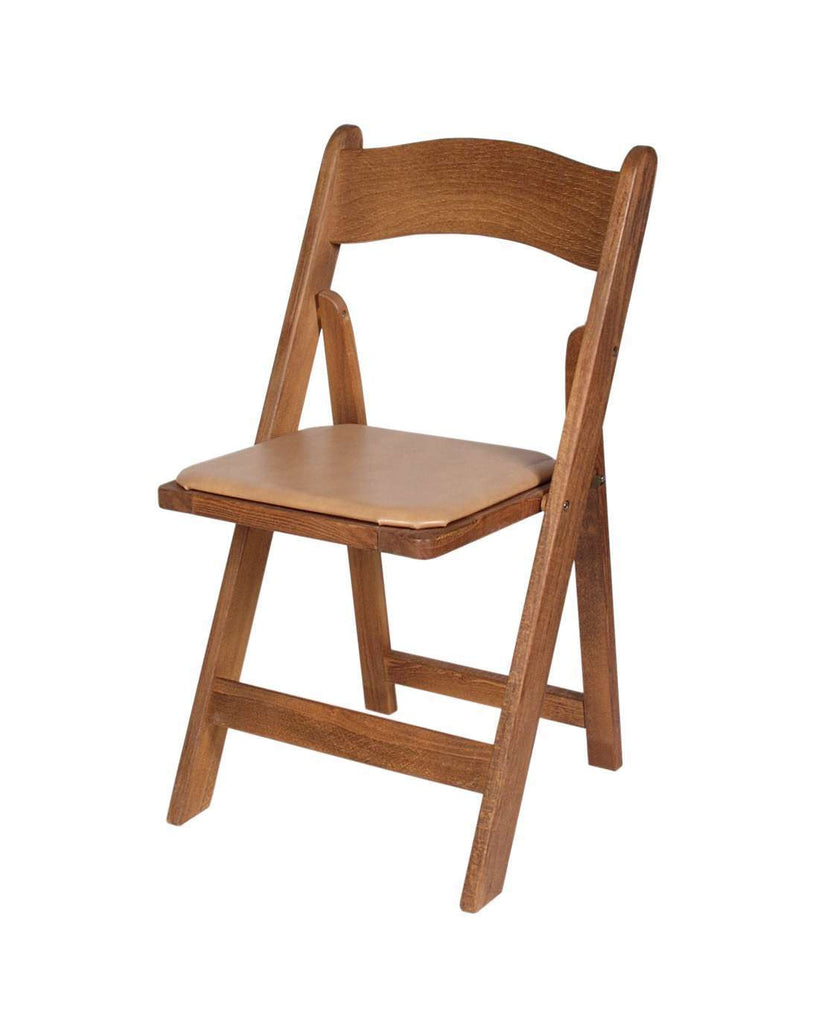 Delicieux ... Wood Padded Folding Chairs ...