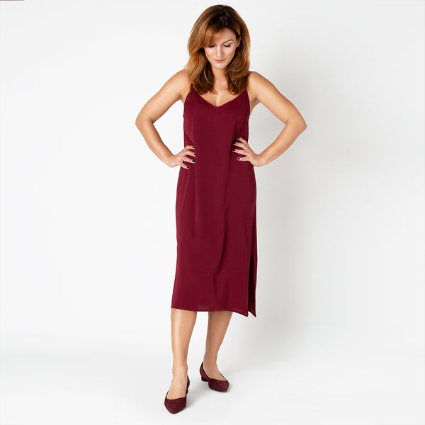 'Bahamas' SLIP DRESS | Red wine