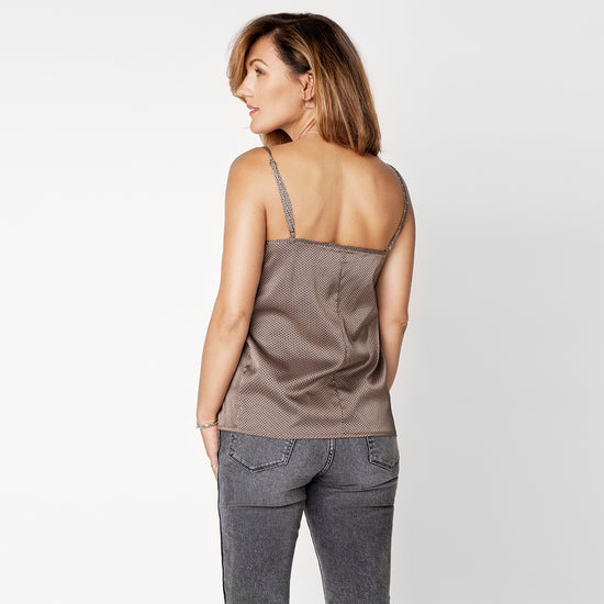 Load image into Gallery viewer, 'Sydney' SLIP TOP | LIGHT BROWN