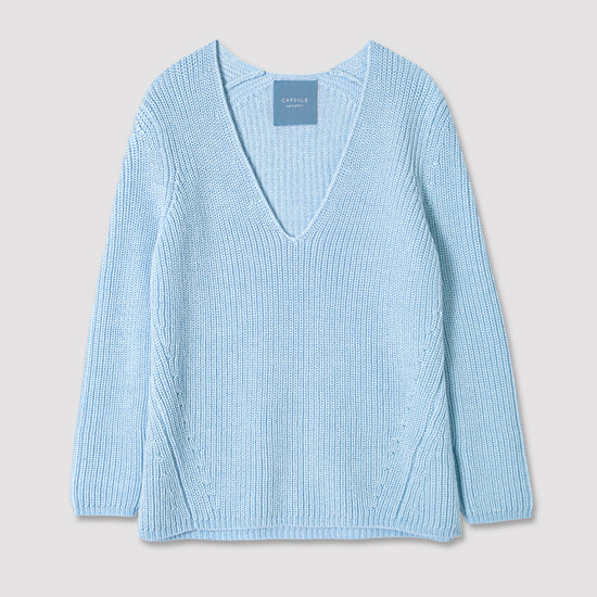 Load image into Gallery viewer, 'OSLO' SWEATER | LIGHT BLUE