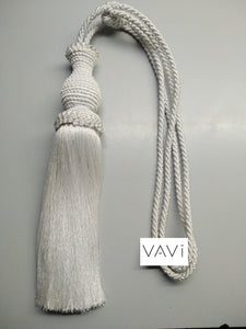 White Tassel Tieback (Set of 2) T02-WE