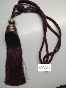 Burgundy Tassel Tieback (Set of 2) T12-SP