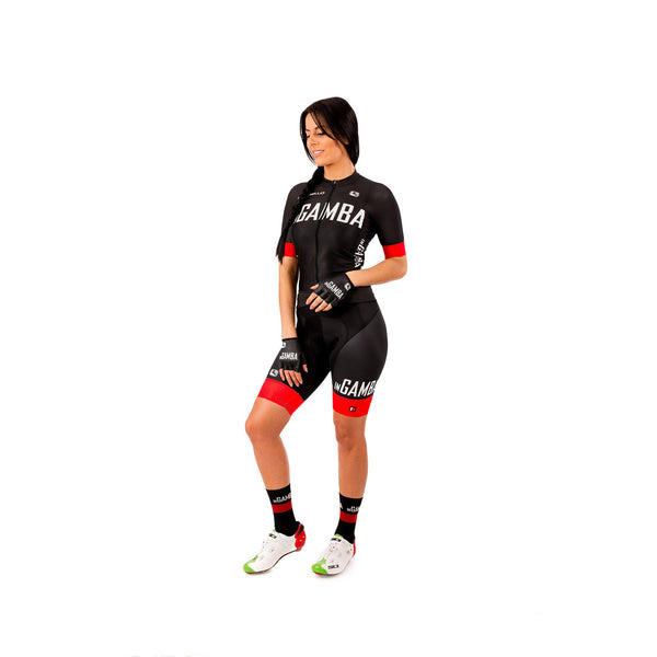 inGamba Women's FR-C Black Short Sleeve Jersey clothing Giordana