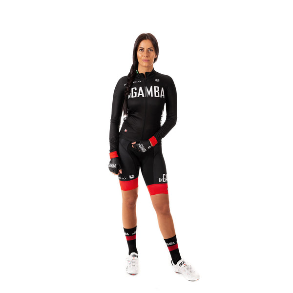 inGamba Women's FR-C Black Long Sleeve Light Jersey clothing Giordana
