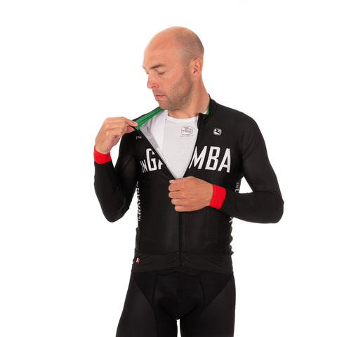 inGamba Men's FR-C Black Long Sleeve Light Jersey