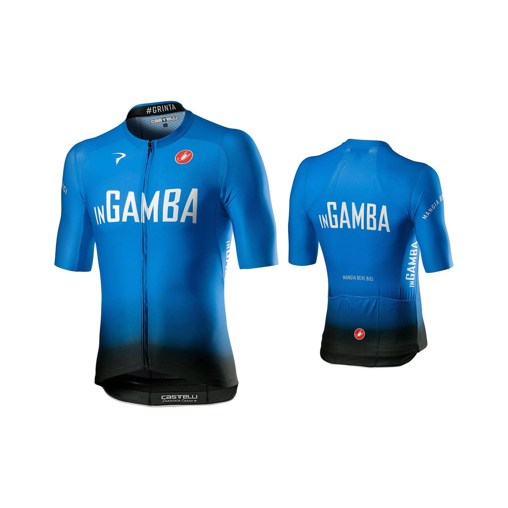 inGamba Men's Aero Race 6.0 Short Sleeve Blue&Black Jersey Cycling Clothing Castelli