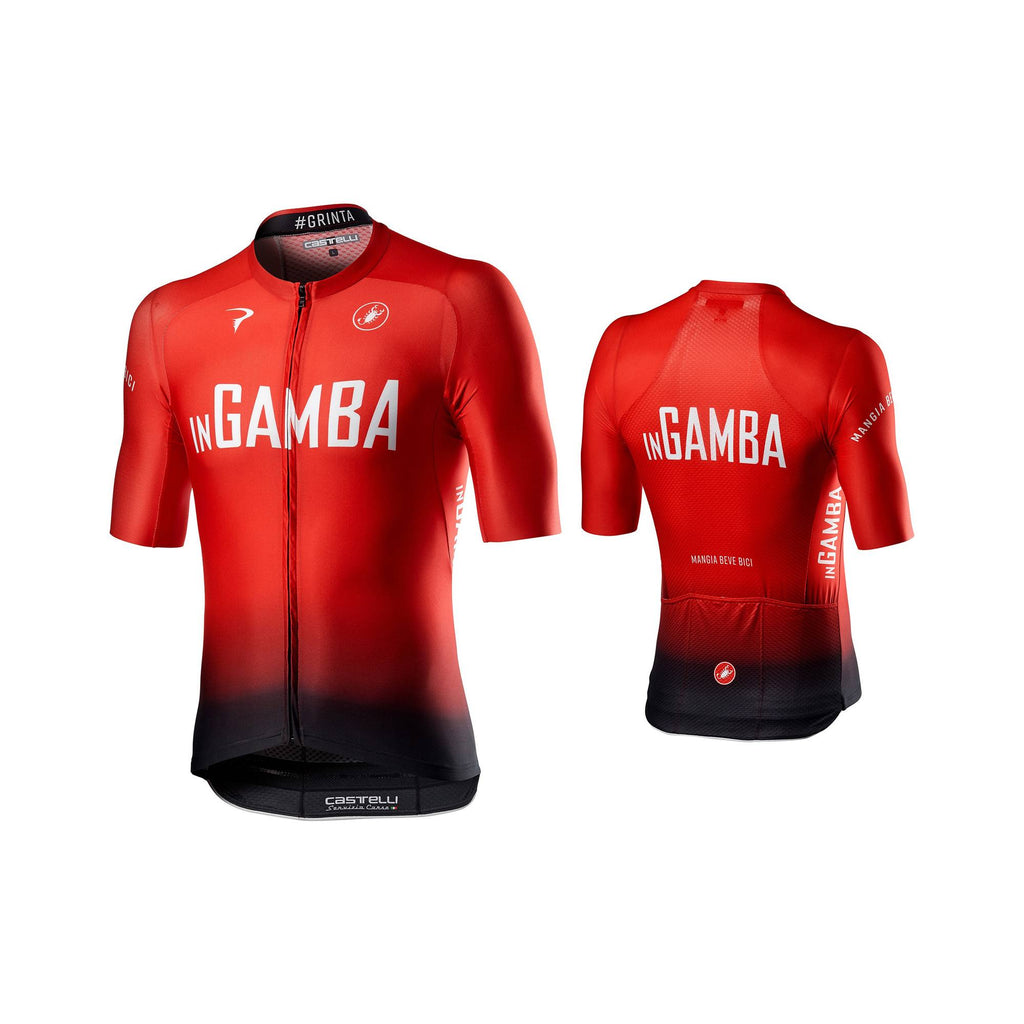 inGamba Men's Aero Race 6.0 Short Sleeve Red&Black Jersey Cycling Clothing Castelli