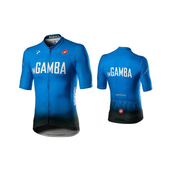 inGamba Men's Competizione Short Sleeve Blue&Black Jersey Cycling Clothing Castelli