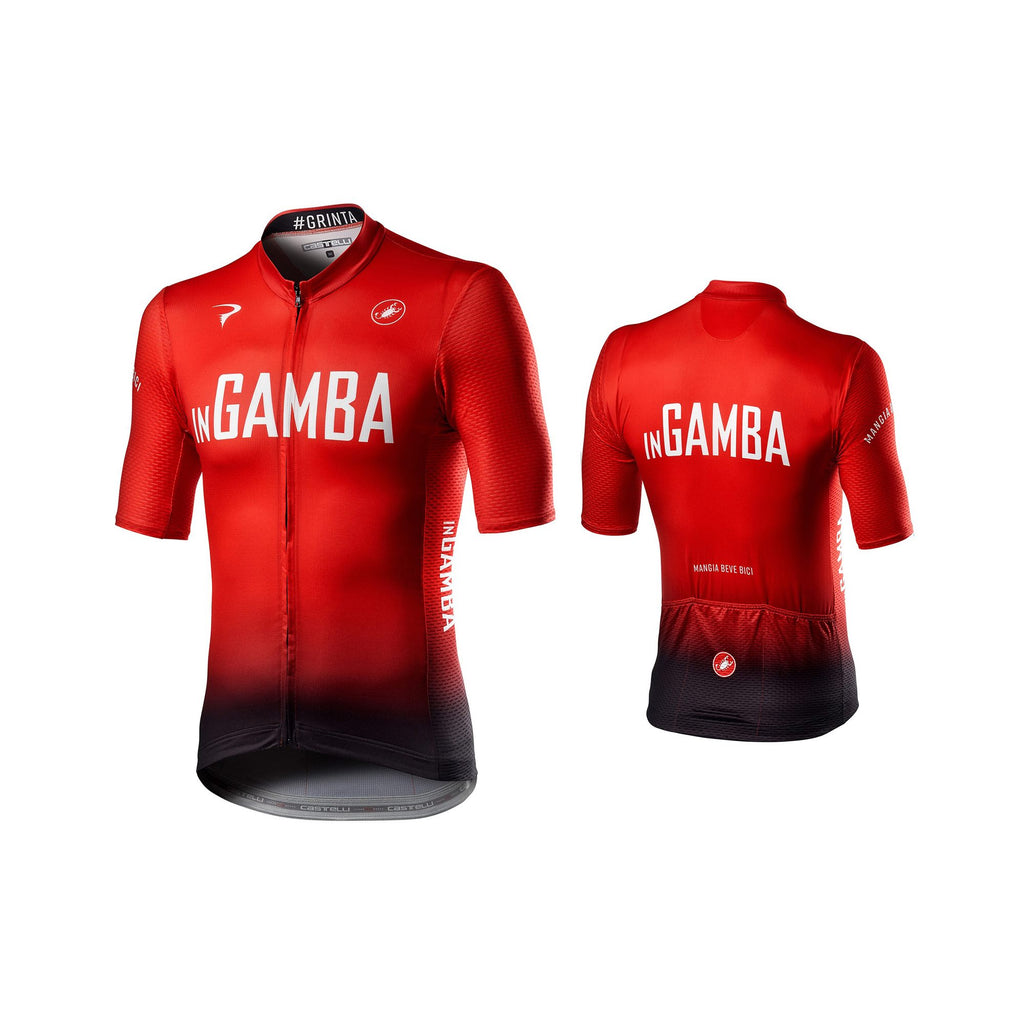 inGamba Men's Competizione Short Sleeve Red&Black Jersey