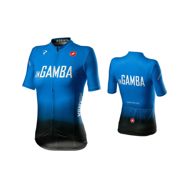 inGamba Women's Competizione Blue&Black Short Sleeve Jersey Cycling Clothing Castelli