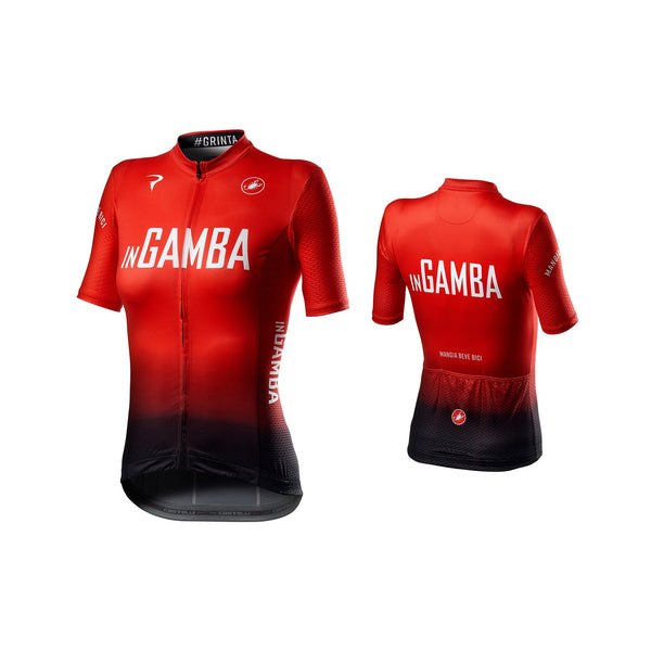 inGamba Women's Competizione Red&Black Short Sleeve Jersey Cycling Clothing Castelli