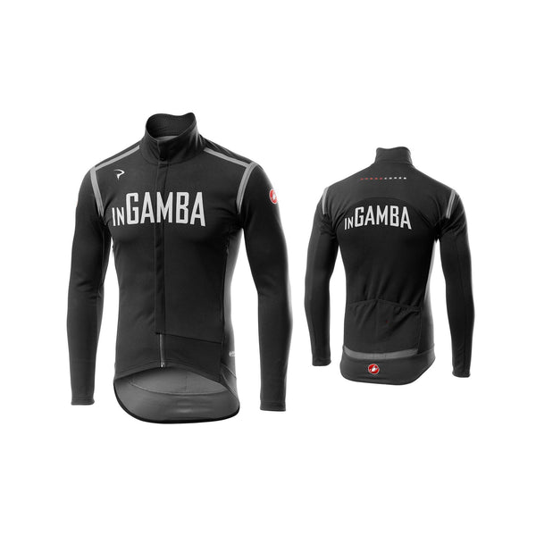 Castelli for inGamba Men's Perfetto RoS Long Sleeve Black Jersey