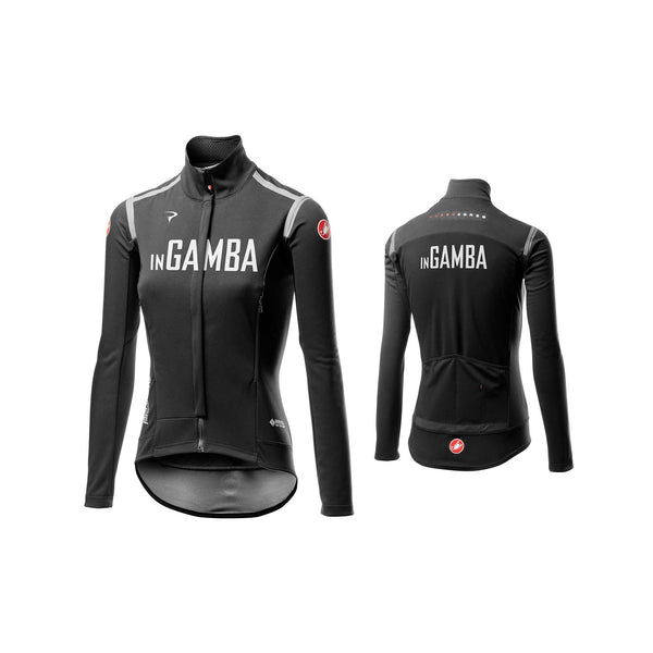 Castelli for inGamba Women's Perfetto RoS Long Sleeve Black Jersey Cycling Clothing Castelli