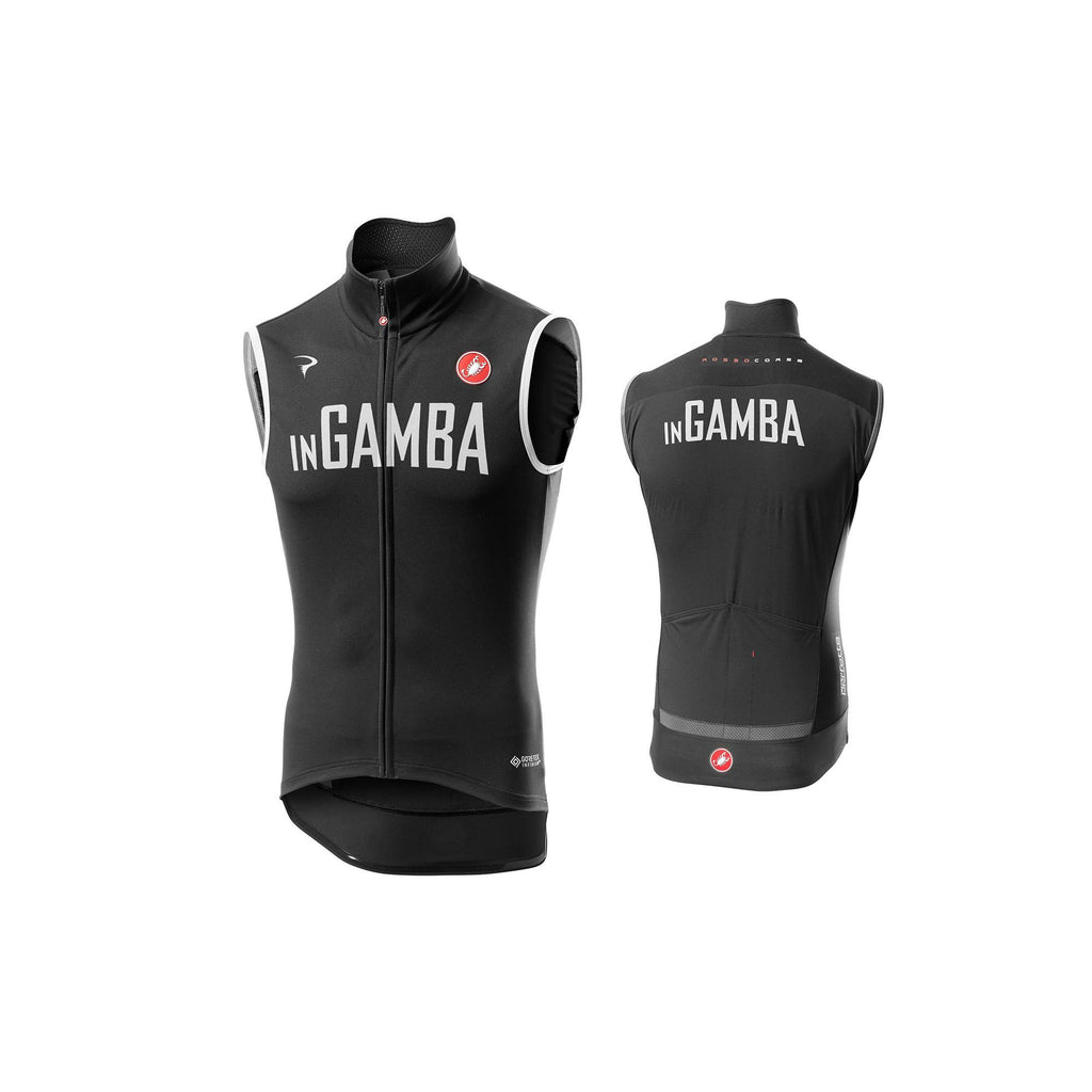 Castelli for inGamba Men's Perfetto RoS Black Vest Cycling Clothing Castelli
