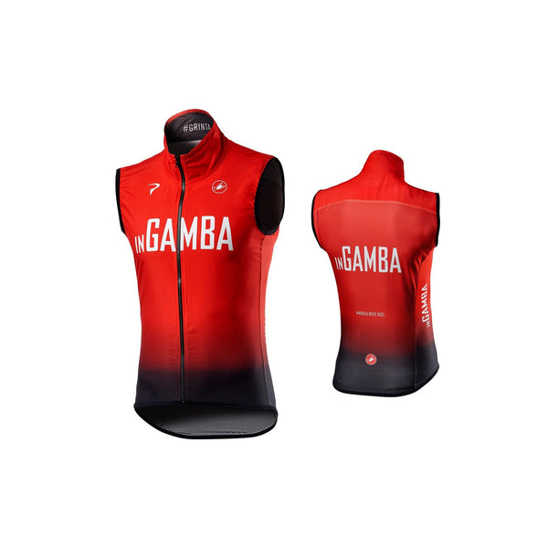 inGamba Men's Pro Light Wind Red&Black Vest Cycling Clothing Castelli
