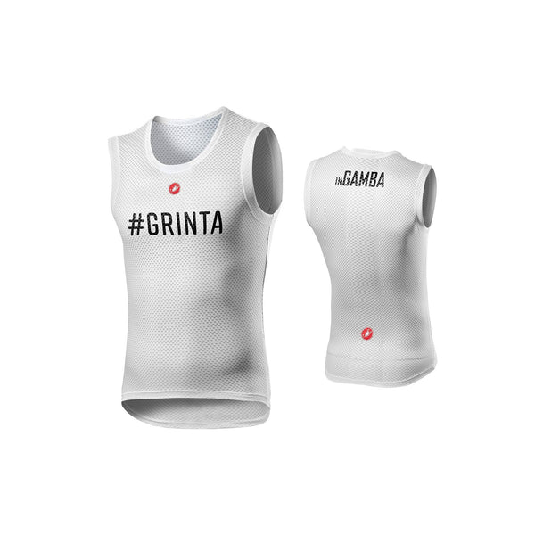 inGamba Unisex Pro Mesh Sleeveless White Grinta Base Layer Cycling Clothing Castelli