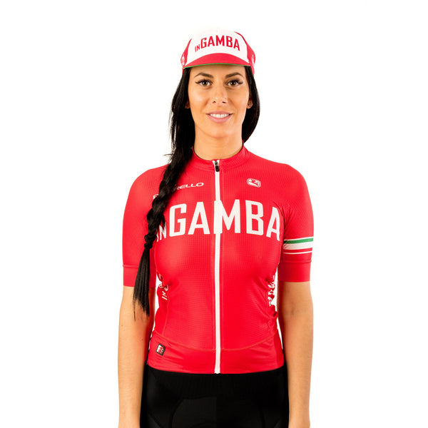 inGamba Red&White Cycling Cap Unisex Casual Wear Giordana