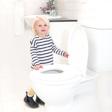 Load image into Gallery viewer, CHILDCARE 2-IN-1 KIDS TOILET TRAINER SEAT WHITE