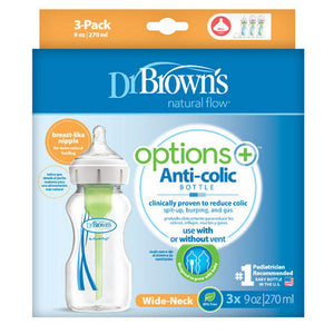 Dr Browns Options+ Wide Neck Bottle 270ml 3 Pack