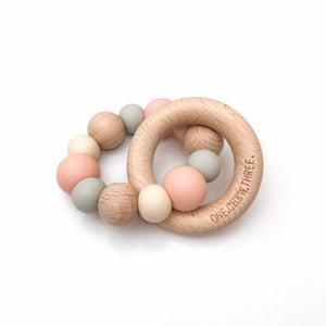 One Chew Three DUO Silicone and Beech Wood Teether