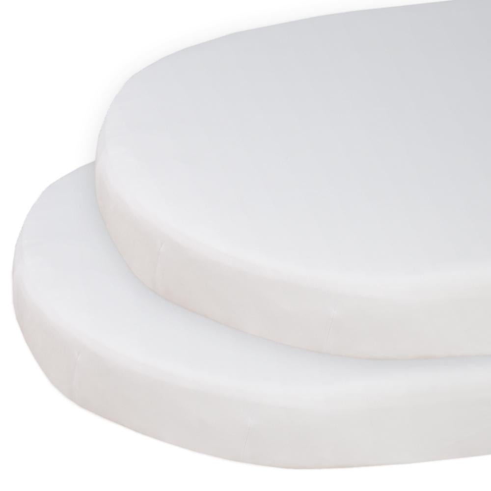 Living Textiles 2-PACK JERSEY ROUND COT SHEET - WHITE