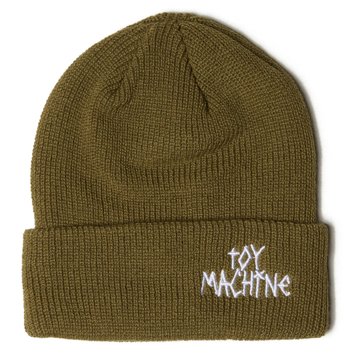 Toy Machine Tape Logo Beanie Olive