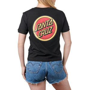 Santa Cruz Womans Retro Dot Tee Blk