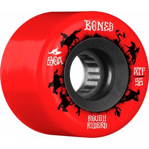 Bones Rough Riders Wranglers 56mm 80a Red