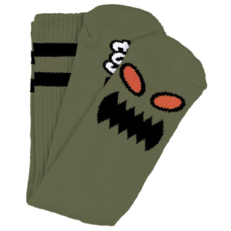 Toy Machine Monster Face Sock Moss