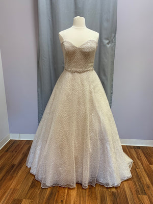 Sottero and Midgley - Magdalyn - Size 22 - Ivory over Champ/Rose Gold Accent