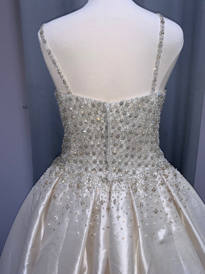 Maggie Sottero - Dana - Size 24 - Light Champ/Pewter Accent