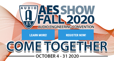 AES Show News - Dr. Santucci speaking at virtual convention