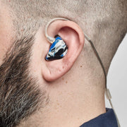 2MAX in-ear monitor being worn, side view