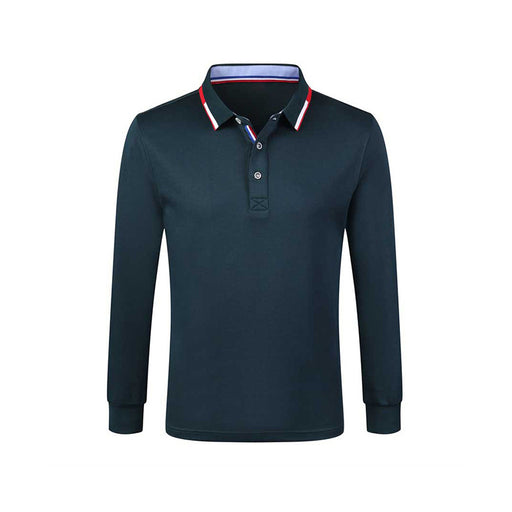 Basic Long Sleeves Polo Shirt
