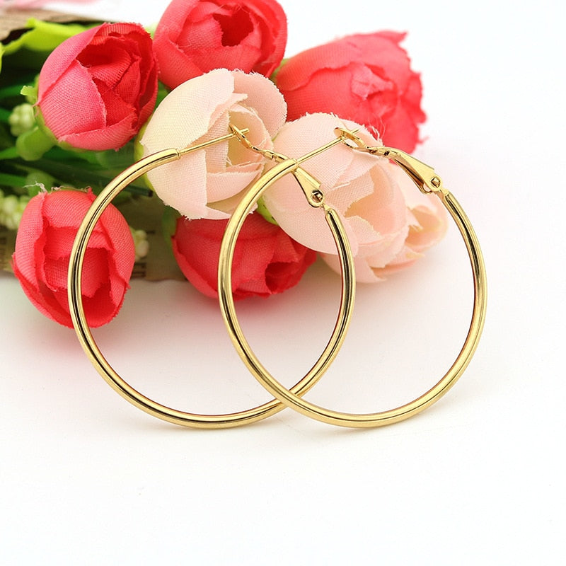Lily Hoop Earrings (Titanium)
