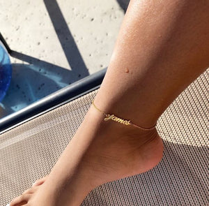 Athena Personalized (Name) Anklet