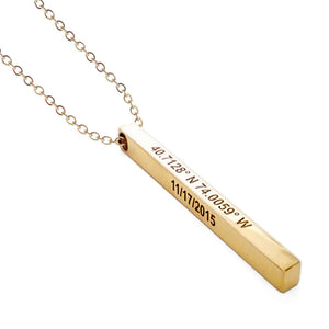 Chloe Personalized Bar (Name) Necklace