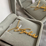 Vertical Name Personalized Necklace (Stainless Steel)