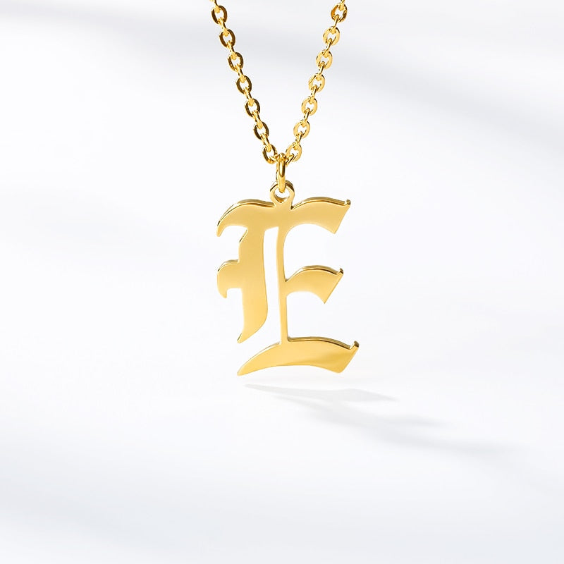 One Letter Pendant Personalized (Name) Necklace