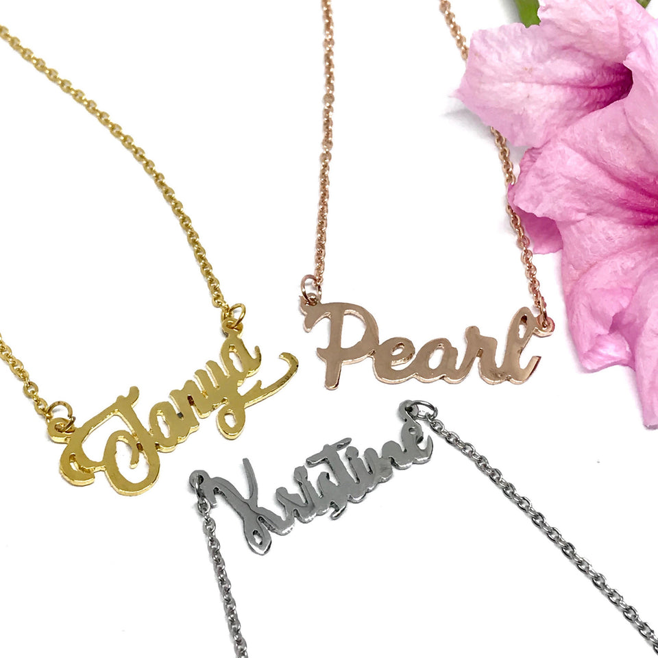 for KIDS: Athena (Name) Necklace