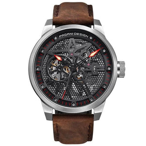 Men's Luxury Tourbillon Automatic Leather Watch