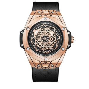 Men's Quartz Geometric Design Watch