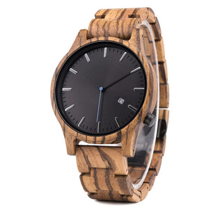 Men's Wooden Quartz Watch