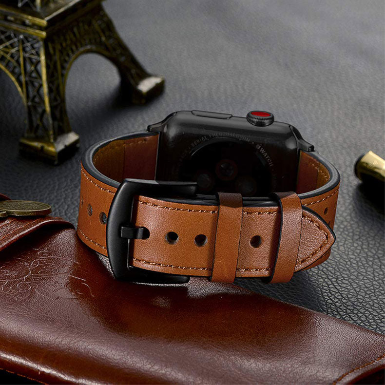 Men's Genuine Leather Apple Watch Band