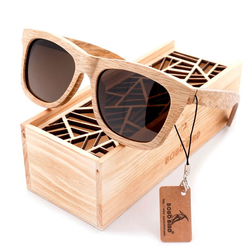 Wooden Frame Polarized Sunglasses For Men
