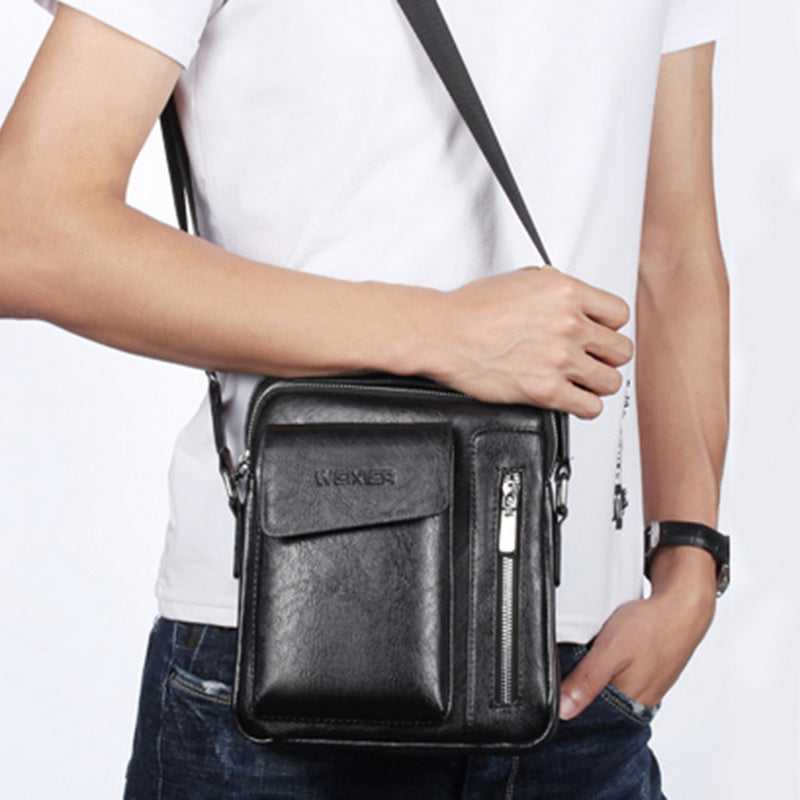 Retro PU Leather Crossbody Bag