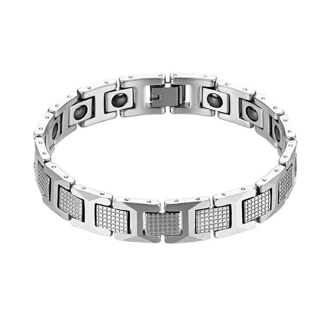 Men's Tungsten Steel Magnetic Stone Health Bracelet
